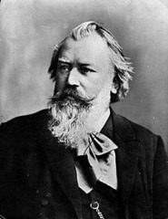 The composer pictured above is best known for taking older forms and styles and redefining them in modern ways. Antonín Dvorák was inspired by his Hungarian Dance No. 1. What is this composer's name? 3:03