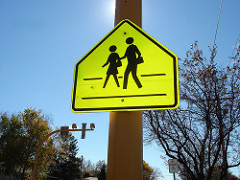 Sign for school zone
