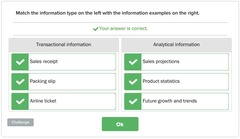 transactional vs. analytical information