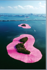 Christo and Jeane Clause, Surrounded Island, Biscyne Bay