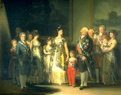 Francisco De Goya, Family of Charles IV, 1800 -inspired by Velasquez Las Meninas, artist included himself
