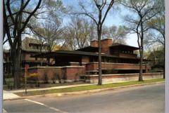 Frank Lloyd Wright: the Robie House, Chicago, IL, 1906-10, Prairie SChool