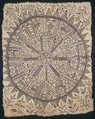 Hiapo (tapa) Niue. c. 1850-1900 C.E. Tapa or bark cloth, freehand painting Tapa traditions were regionally unique and historically widespread throughout the Polynesian Islands. Eastern Polynesia did not experience a continuous tradition of tapa production, however, the art form is still produced today, particularly in the Hawaiian and the Marquesas Islands.