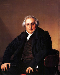 INgres, Portrait of Louis Bertin, 1832  -David's student