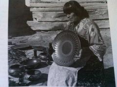 Maria Martinez, San Idelfonso- Blackware Pottery  1950