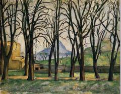 PauL Cezanne Chestnut Trees at the Jas de Bouffan 1885