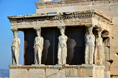 Porch of the Caryatids, Erechtheum, Acropolis, Athens