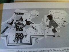Pueblo culture- Kiva Mural (repro)  NM 1400 c.e.