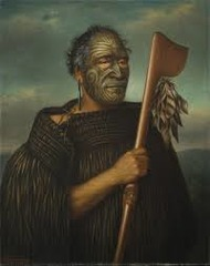 Tamati Waka Nene  Gottfried Lindauer. 1890 C.E. Oil on canvas Smooth brushstrokes, painted to show kind nature of the chief, compassionate, similar portrait style to the Mona Lisa, painted with tribal face paint to reinforce culture