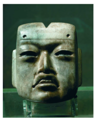 Templo Mayor Components Title/ Designation: Olmec Style Mask Artist/ Culture: Tenochtitlan (modern Mexico City, Mexico), Mexica (Aztec)  Date of Creation: 1375-1520 CE Materials: jadeiite