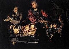 Title/ Designation: A Philosopher Giving a Lecture at the Orrery Artist/ Culture: Joseph Wright of Derby Date of Creation: c. 1763-1765 CE Materials: oil on canvas