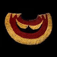 Title/ Designation: 'Ahu 'la (feather cape) Artist/ Culture: Hawaiian  Date of Creation: Late 18th century CE  Materials: Feathers and fiber