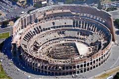 Title/ Designation: Colosseum (Flavian Amphitheater) Artist/ Culture: Rome, Italy. Imperial Roman Date of Creation: 70-80 C.E. Materials: Stone and concrete
