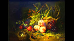 Title/ Designation: Fruit and Insects  Artist/ Culture: Rachel Ruysch Date of Creation: 1711 CE Materials: Oil on wood