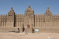 Title/ Designation: Great Mosque of Djenné Artist/ Culture: Mali  Date of Creation: c. 1200 CE; rebuilt 1906-1907  Materials: Adobe