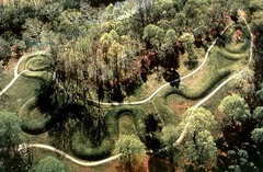 Title/ Designation: Great Serpent Mound Artist/ Culture: Adams County, southern Ohio, Missisippian (Eastern Woodlands)  Date of Creation: c.1070 CE Materials: earthword effigy mound
