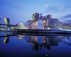 Title/ Designation: Guggenheim Museum Bilbao Artist/ Culture: Spain, Frank Gehry (architect)  Date of Creation: 1997 CE Materials: Titanium, glass, and limestone