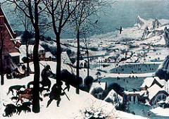 Title/ Designation: Hunters in the Snow Artist/ Culture: Pieter Bruegel the Elder Date of Creation: 1565 CE Materials: Oil on wood