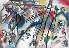 Title/ Designation: Improvisation 28 (second version) Artist/ Culture: Vassily Kandinsky  Date of Creation: 1912 CE Materials: Oil on canvas