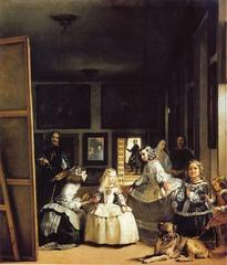 Title/ Designation: Las Meninas  Artist/ Culture: Diego Velázquez Date of Creation: c. 1656 CE Materials: oil on canvas