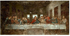 Title/ Designation: Last Supper Artist/ Culture: Leonardo da Vinci Date of Creation: 1494-1498 Materials: oil and tempera mixture