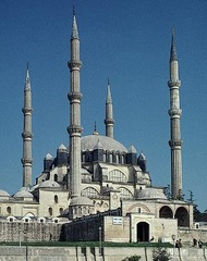 Title/ Designation: Mosque of Selim II Artist/ Culture: Edirne, Turkey, Sinan (architect) Date of Creation: 1568-1575 Materials: Brick and Stone