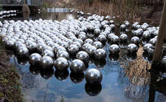 Title/ Designation: Narcissus Garden Artist/ Culture: Yayoi Kusama  Date of Creation: original inspiration and performance 1966 Materials: mirror balls