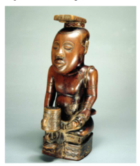 Title/ Designation: Ndop (portrait figure) of King Mishe miShyaang maMbul  Artist/ Culture: Kuba peoples (Democratic Republic of the Congo)  Date of Creation: c. 1760-1780 CE  Materials: wood