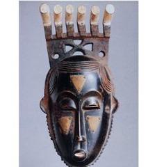Title/ Designation: Portrait mask (Mblo)  Artist/ Culture: Baule peoples (Côte d'Ivoire) Date of Creation: early 20th century CE Materials: wood and pigment