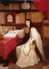 Title/ Designation: Portrait of Sor Juana Inés de la Cruz Artist/ Culture: Miguel Cabrera Date of Creation: c. 1750 CE Materials: Oil on canvas