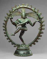 Title/ Designation: Shiva as Lord of Dance (Nataraja) Artist/ Culture: Hindu, India (Tamil Nadu) Chola Dynasty Date of Creation: c. 11th century CE Materials: cast bronze