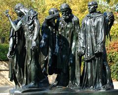 Title/ Designation: The Burghers of Calais  Artist/ Culture: Auguste Rodin  Date of Creation: 1884-1895 Materials: Bronze