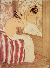 Title/ Designation: The Coiffure Artist/ Culture: Mary Cassatt Date of Creation: 1890-1891 CE Materials: drypoint and aquatint
