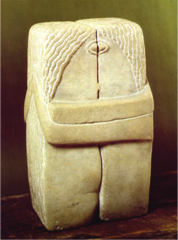 Title/ Designation: The Kiss Artist/ Culture: Constantine Brancusi Date of Creation: Original 1907-1908 CE Materials: stone