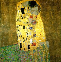 Title/ Designation: The Kiss Artist/ Culture: Gustave Klimt Date of Creation: 1907-1908 CE Materials: Oil and gold leaf on canvas