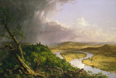 Title/ Designation: The Oxbow (view from Mount Holyoke, Northampton, Massachusetts after a Thunderstorm) Artist/ Culture: Thomas Cole  Date of Creation:1836 CE Materials: Oil on canvas