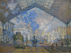 Title/ Designation: The Saint-Lazare Station Artist/ Culture: Claude Monet Date of Creation: 1877 CE Materials: Oil on canvas