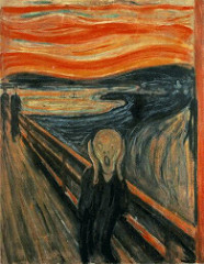 Title/ Designation: The Scream Artist/ Culture: Edvard Munch  Date of Creation: 1893 CE Materials: Tempera and pastels on cardboard