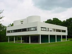 Villa Savoye  Poissy-sur-Seine, France. Le Corbusier (architect). 1929 C.E. Steel and reinforced concrete  This was a radically new view of the domestic sphere, one that is evident in his design for the Villa Savoye. The architect has created a space that is dynamic. This design concept was based on the notion of the car as the ultimate machine and the idea that the approach up to and through the house carried ceremonial significance.