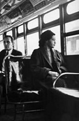 Where was the bus boycott that lasted almost a year?
