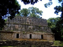 Yaxchilán Chiapas, Mexico. Maya. 725 C.E. Limestone (architectural complex) Yaxchilán is located on the south bank of the Usumacinta River, in Chiapas, Mexico. It was a significant Maya center during the Classic period (250-900 C.E.) and a number of its buildings stand to this day. Many of the exteriors had elaborate decorations, but it is the carved stone lintels above their doorways which have made this site famous. These lintels, commissioned by the rulers of the city, provide a lengthy dynastic record in both text and image.