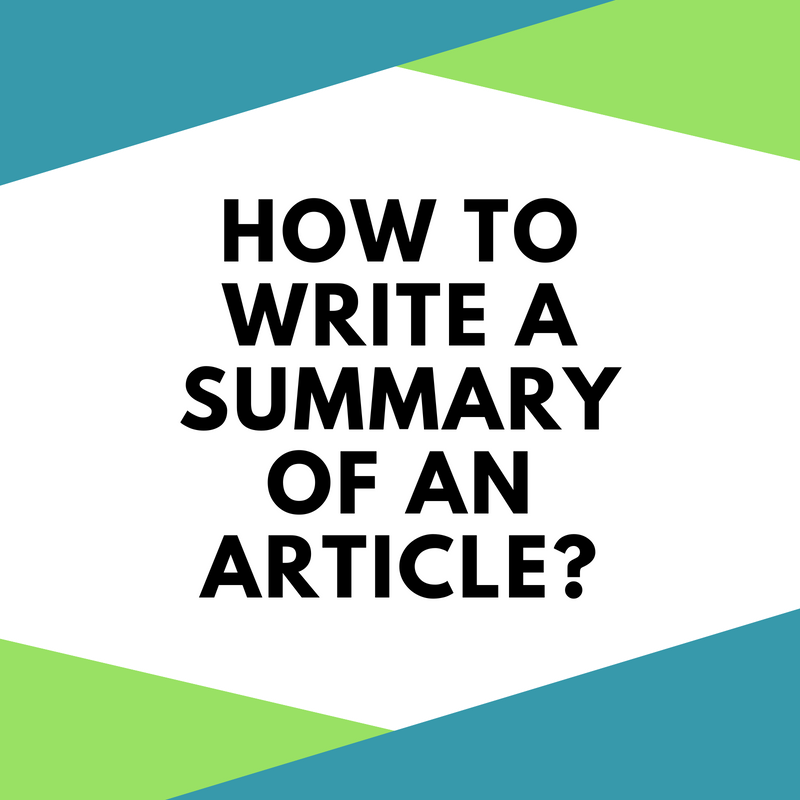 how to type a summary