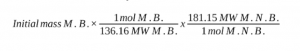 Theoretical Yield of Methyl 3-Nitrobenzoate